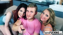 Teens Vladislava And Laveina Join Forces For An Anal Threesome