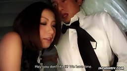 Tsubaki sucks her limo driver English Subbed