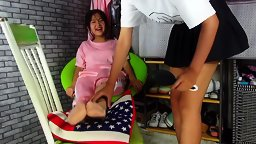 Tickle Chinese Girl Stockings