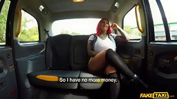 Redhead BBW Thickie Swallows In The Cab - HD