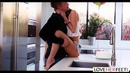 Foot Fetishist Boyfriend Surprised By Naughty Norah! - HD